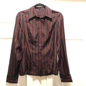 GUCCI 100% Silk Button Down Blouse